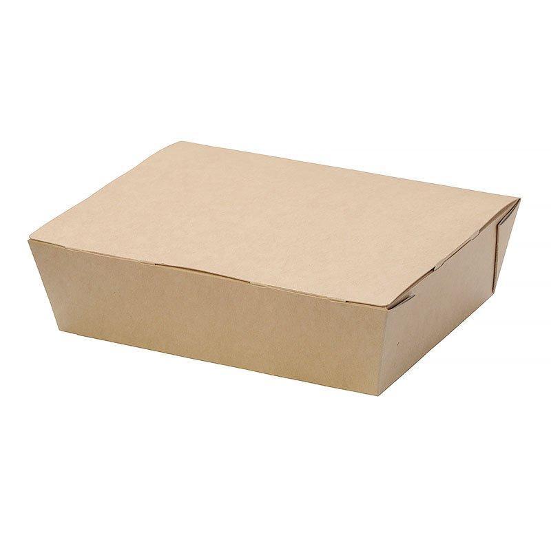 """Коробка """"DoEco"""" 190х150х50мм ECO LUNCH 1000, коричн. (ланч-бокс), 200 шт"""