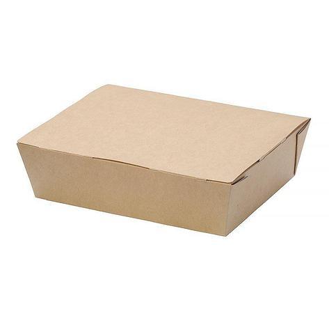"""Коробка """"DoEco"""" 190х150х50мм ECO LUNCH 1000, коричн. (ланч-бокс), 200 шт, фото 2"""