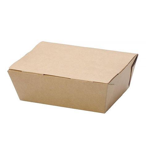 """Коробка """"DoEco"""" 150х115х50мм ECO LUNCH 600, коричн. (ланч-бокс), 350 шт, фото 2"""