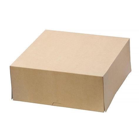 """Коробка """"DoEco"""" 255х255х105мм ECO CAKE 6000, коричн., 75 шт, фото 2"""