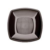 Тарелка квадратная плоская,Черная,180мм,ПП, 6 шт