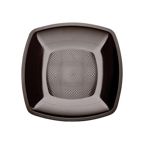 Тарелка квадратная плоская,Черная,180мм,ПП, 6 шт, фото 2