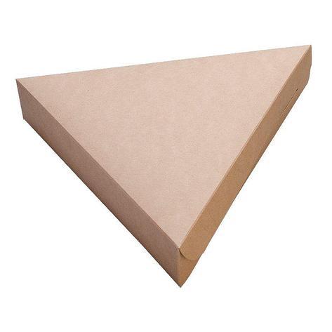 Коробка под пиццу треугольная, картон цвет крафт, ECO PIE BIO,800 мл 220х200х40мм, 600 шт, фото 2