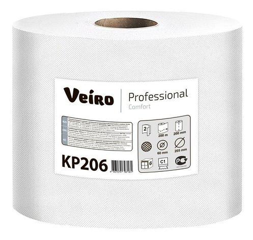 Полотенца бумажные в рулонах с центральной вытяжкой Veiro Professional Comfort, двухсл., 180 м, 2 шт, фото 2