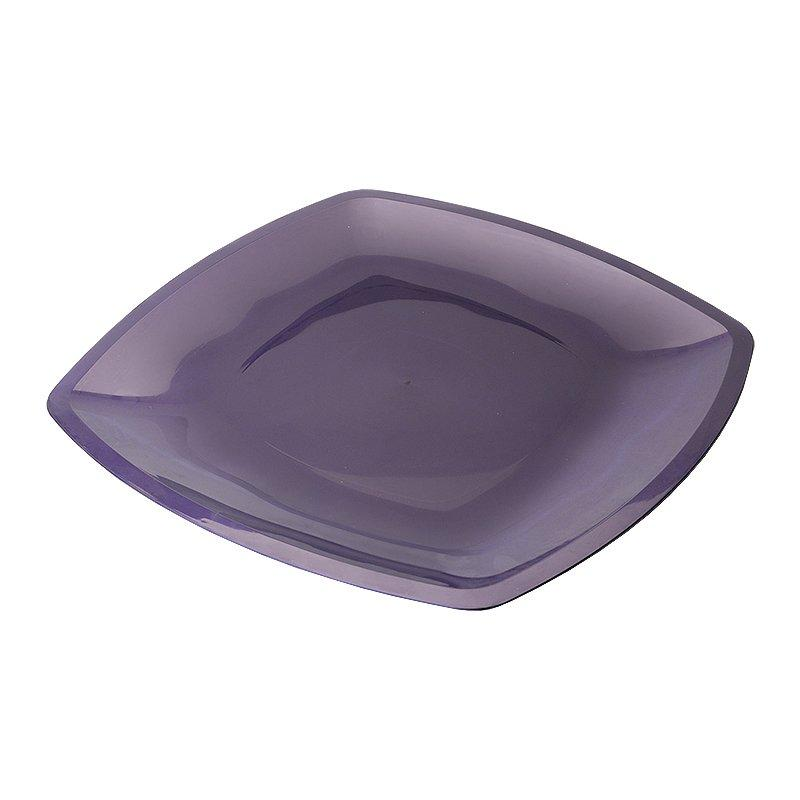 Тарелка - блюдо, квадратная, сиреневая, 300мм , 3 шт