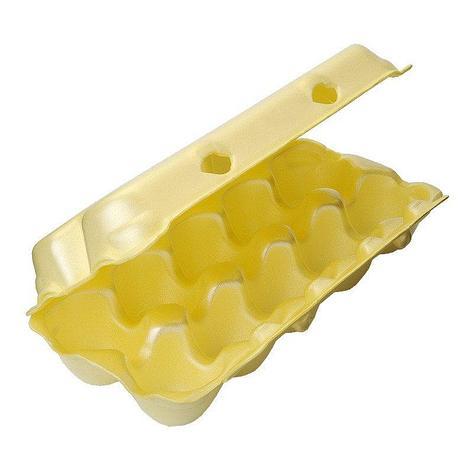 Упаковка для яиц высш. кат. (10 шт.), желтая, ВПС, 100 шт, фото 2