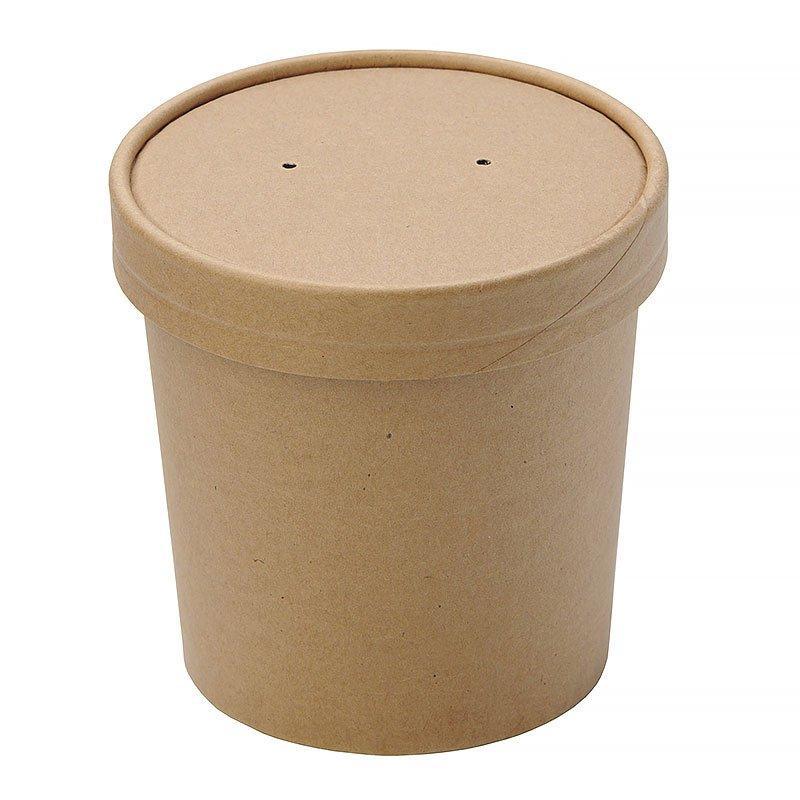 "Упаковка ""DoEco"" d-70мм, h-85мм, 340мл ECO SOUP 12С, для супа, коричн., 250 шт"