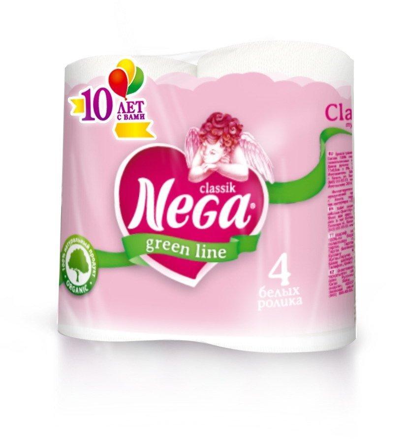 Бумага туалетная 2сл. 4шт. Nega Classik , 4 шт