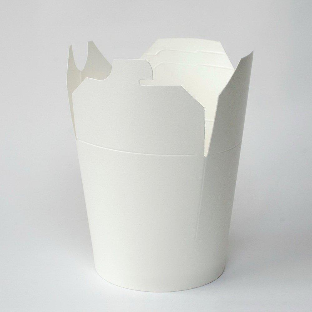 Коробка для лапши (контейнер) China-Pack 450мл, белая, 500 шт