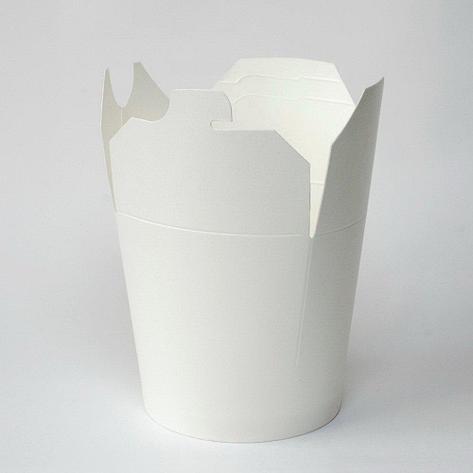 Коробка для лапши (контейнер) China-Pack 450мл, белая, 500 шт, фото 2