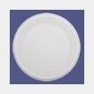 Тарелка дес., d 165мм, бел., ПС, классическая, 2400 шт