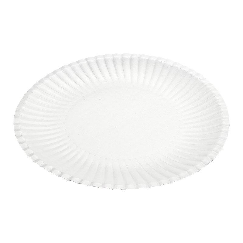 Тарелка d 240мм, ламинированная, белая, картон, 700 шт