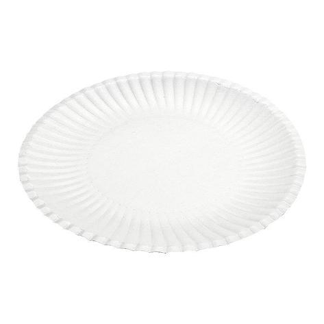 Тарелка d 240мм, ламинированная, белая, картон, 700 шт, фото 2