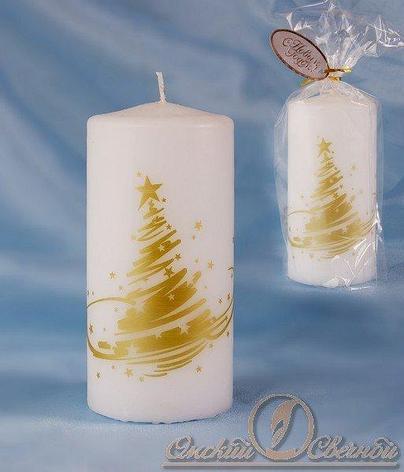 Свеча-пенек Новогодняя ёлка, фото 2