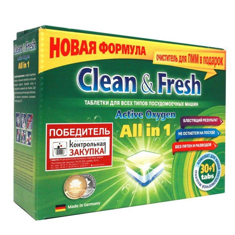 Таблетки для ПММ Clean&Fresh All in1 midi (30 табл.), 30 шт