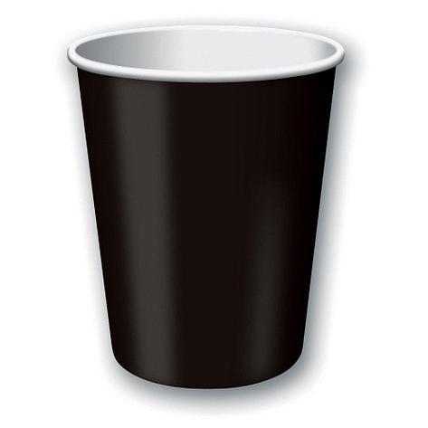 Стакан для холодного и горячего, 0.25/0.273л, дизайн рисуем мелом, черный, картон, 1000 шт, фото 2