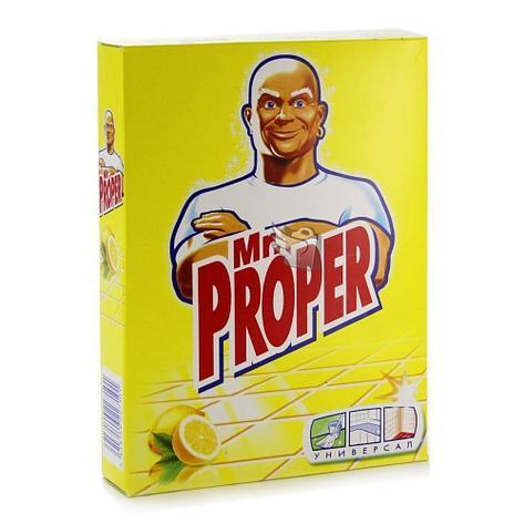 """Моющий порошок """"Mr. PROPER"""" с запахом лимона, 0,400 кг., фото 2"""