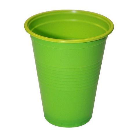 Стакан для холодных и горячих напитков, 0.18л, жёлто-зеленый, BiColor, 3000 шт, фото 2