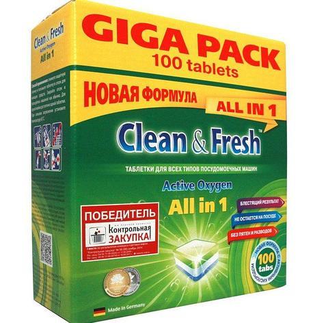 Таблетки для ПММ Clean&Fresh All in1 giga (100 табл.), 100 шт, фото 2