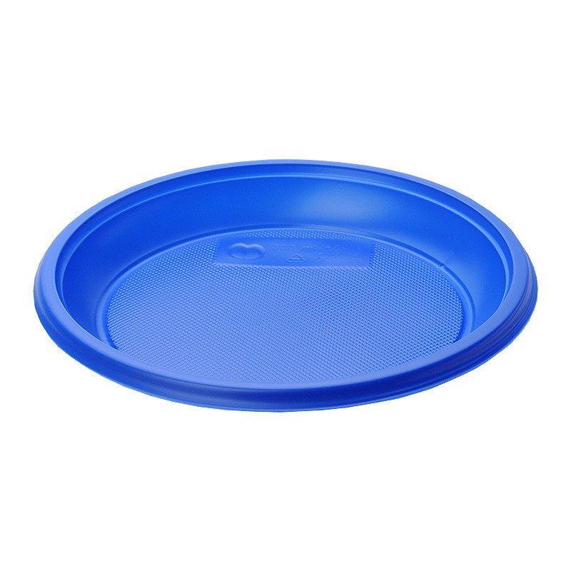 Тарелка десертная, d 170мм, синяя, 12 шт