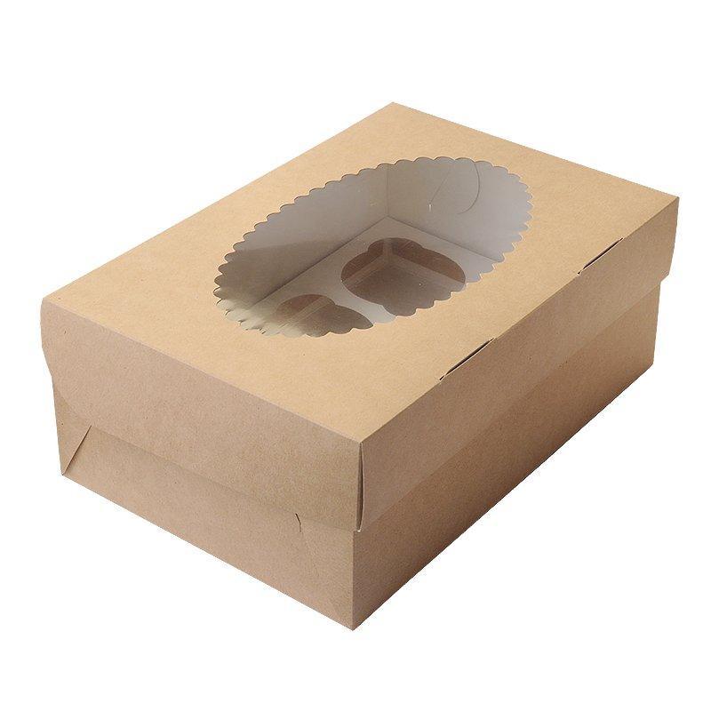 """Коробка """"DoEco"""" 250х170х100мм ECO MUF 6, с окном, коричн/белый , 150 шт"""