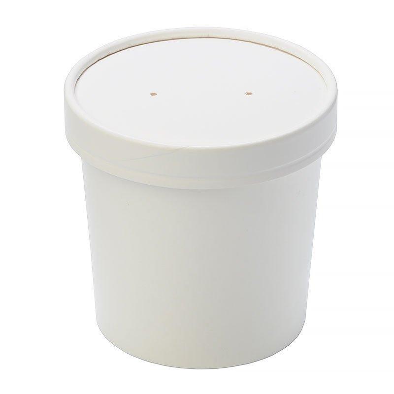 """Упаковка """"DoEco"""" d-70мм, h-85мм, 340мл ECO SOUP 12W, для супа, белая, 250 шт"""