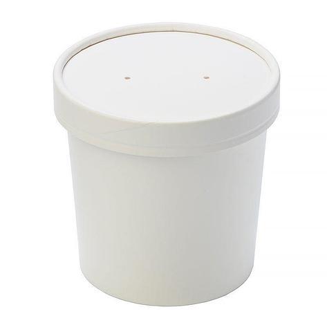 """Упаковка """"DoEco"""" d-70мм, h-85мм, 340мл ECO SOUP 12W, для супа, белая, 250 шт, фото 2"""