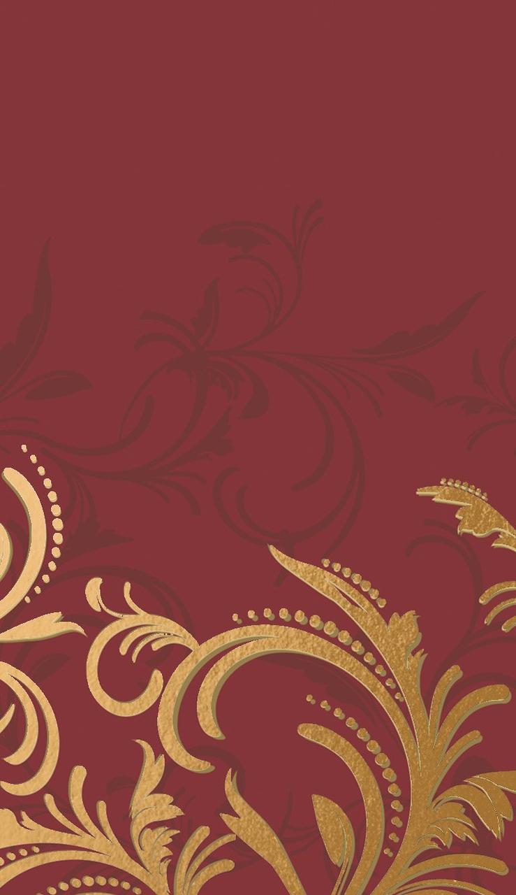 "Скатерть 138х220см, DUNICEL, ""Grace Bordeaux"", бордо, Бумага"