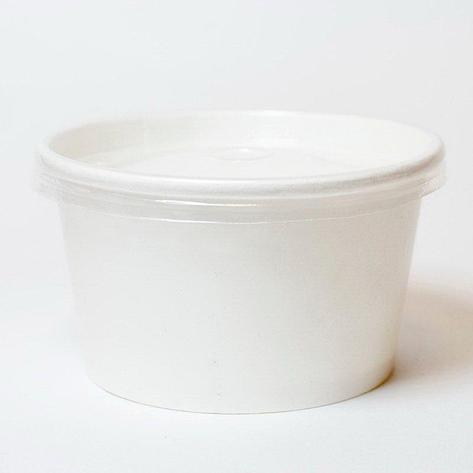 Контейнер под суп картон, d-121, чаша 500 мл, белая, 500 шт, фото 2