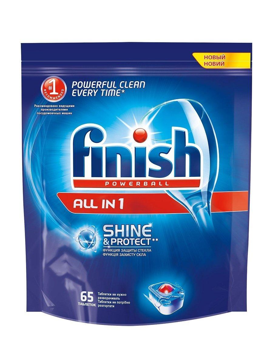 Моющее средство для посудомоющих машин Finish, 65 табл, 65 шт