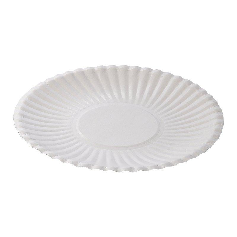 Тарелка d 170мм, толщ. 0.40мм, бел., ламин., картон, 1000 шт