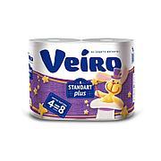 Бумага туалетная 2сл. 4шт. VEIRO Standart Plus, 4 шт