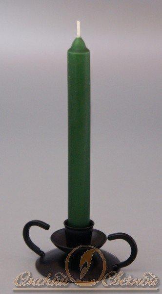 Свеча столовая 175мм (d19 мм) вес 40 гр тёмно-зеленая, 4 шт