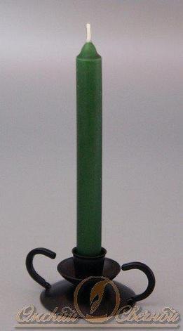 Свеча столовая 175мм (d19 мм) вес 40 гр тёмно-зеленая, 4 шт, фото 2
