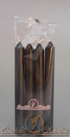 Свеча столовая 175мм (d19 мм) вес 40 гр черная, 4 шт, фото 2