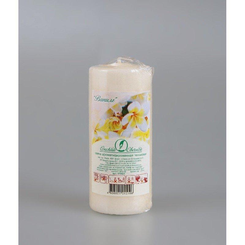 Свеча-пенек ароматизированная Ваниль h115мм d50мм