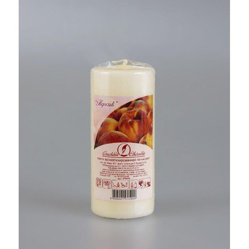 Свеча-пенек ароматизированная Персик h115мм d50мм