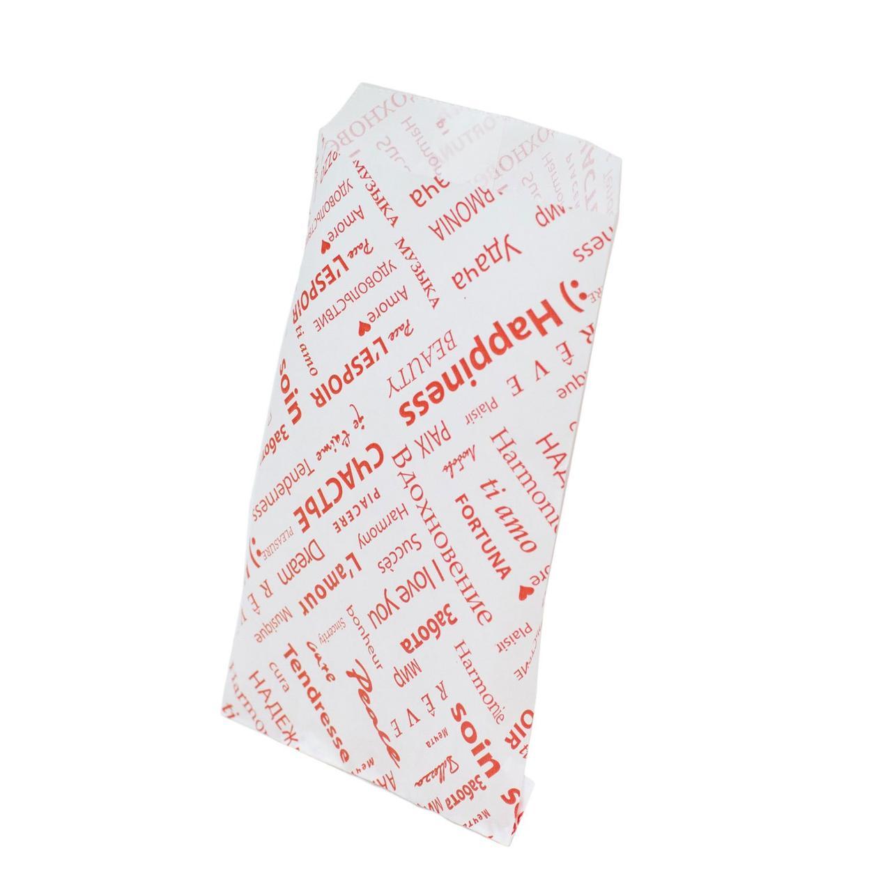 Пакет бумажный белый дизайн Фиеста 110х180, 3000 шт