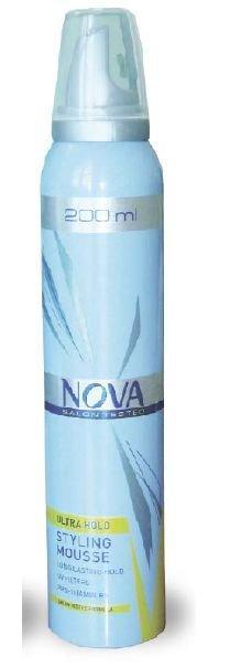 Мусс для волос Nova сверхсильной фиксации 200мл (желтый)