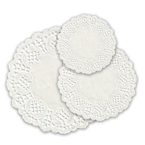 Салфетки серв. d 12см(внутр-7см), бел. бум.