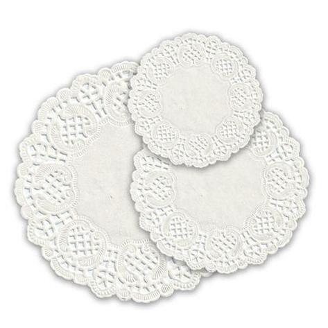 Салфетки серв. d 12см(внутр-7см), бел. бум., фото 2
