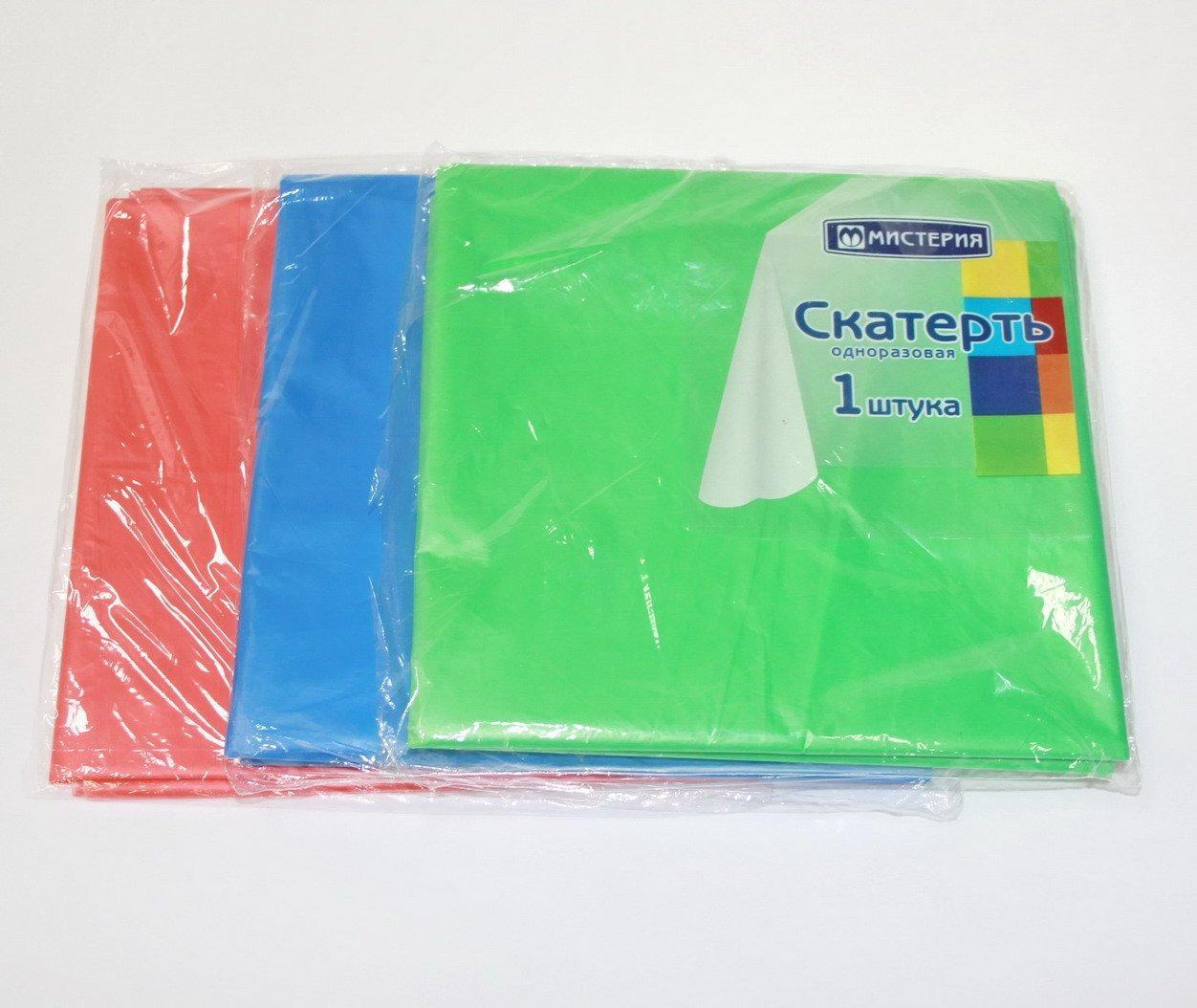 Скатерть 120х150см однотонная цвет в ассортименте, ПЭ