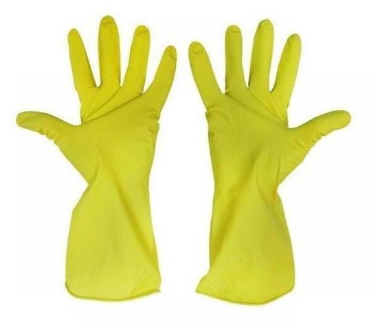 Перчатки  хозяйственные латексные, размер L, фото 2