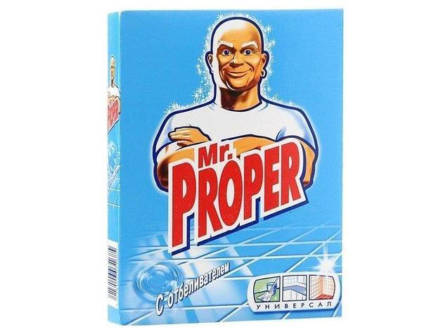 """Моющий порошок """"Mr. PROPER"""" с отбеливателем, 0,400 кг., фото 2"""