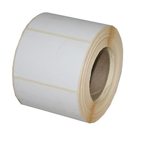 Весовая лента 58х40 мм, ЭКО В белая термо бумага, (непринт), фото 2