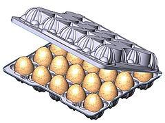Упаковка для перепелиных яиц (20 шт) 166*149*38мм, п/прозрачн., ПВХ, 1000 шт