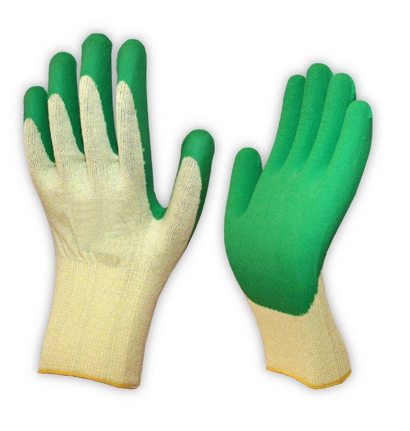Перчатки одинарный облив (латекс), х/б