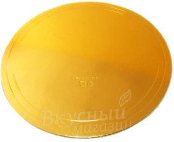 Подложка усиленная золото D 300 мм (толщина 2,5 мм)