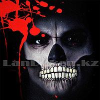 Временная татуировка на Хэллоуин в виде рта + крестовый шрам M-11