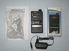 Алкометр Drivesafe (с сетевым адаптером и 10 сменными мундштуками), 0-1,5 промилли, стрелочный индикатор